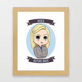 "Knope: ""Hoes Before Bros"" Framed Art Print"