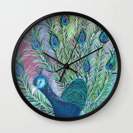 Tail of the Peacock Wall Clock