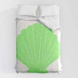 Seashell (Light Green & White) Comforters