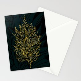 Nested in Gold Stationery Cards