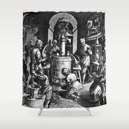 Alchemical Laboratory Shower Curtain
