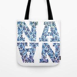 Modern Floral Nana Illustration Tote Bag