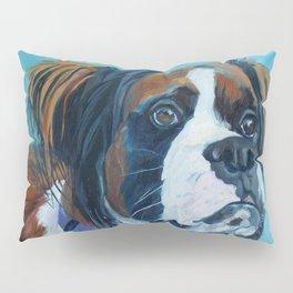 Nori the Therapy Boxer Dog Portrait Pillow Sham