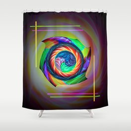 Abstract in perfection 121 Shower Curtain