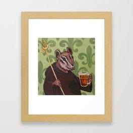 Chip Monk Beer Framed Art Print
