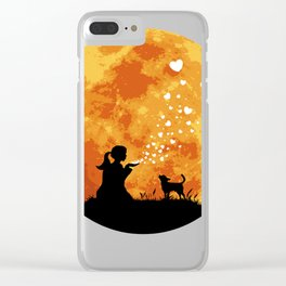 Chihuahua Smoothcoated Dark Clear iPhone Case