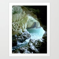 israel Art Prints featuring Israel Cave by Joyfully Green