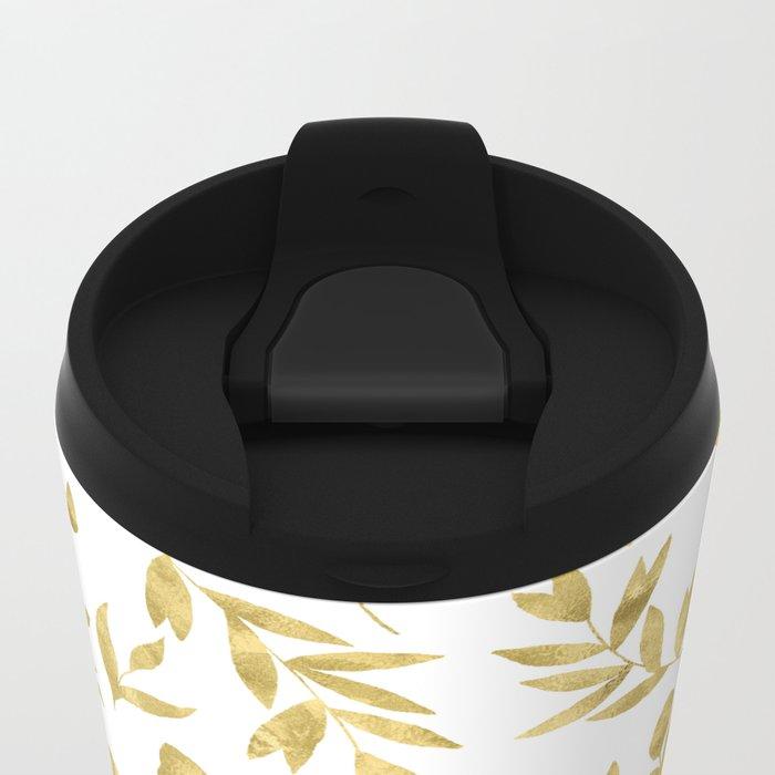 Golden Meadow Metal Travel Mug