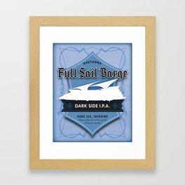 Full Sail Barge Ale Framed Art Print