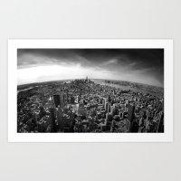 manhattan Art Prints featuring Manhattan by Xbird