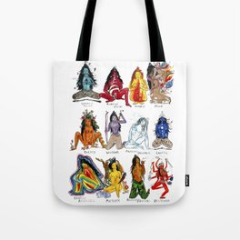 Her Moods - Watercolor Chart of the Emotions of the Female Mind Tote Bag