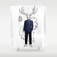 swag Shower Curtains featuring Swiggity Swag by JM London