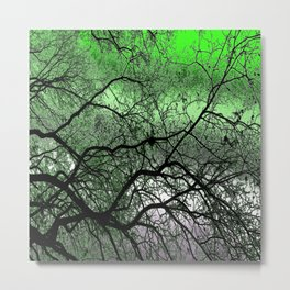 Twisted but Strong (lime green) Metal Print