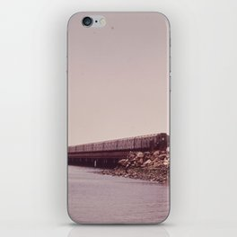 NEW YORK SUBWAY IS ABOVE GROUND WHEN IT CROSSES JAMAICA BAY AREA iPhone Skin