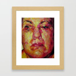 Face Framed Art Print