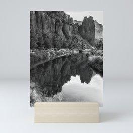 Smith Rock Morning Glow bw Mini Art Print