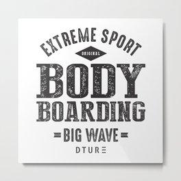 Bodyboarding Metal Print