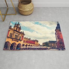 Cracow Main Square Old Town Rug