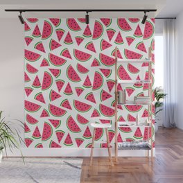 Watermelon Slices Collage Wall Mural