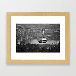 Above the city Framed Art Print
