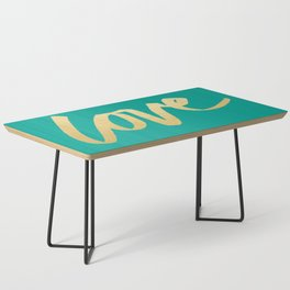 Love Gold Turquoise Type Coffee Table