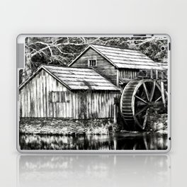 The Old Mill Black and White Laptop & iPad Skin