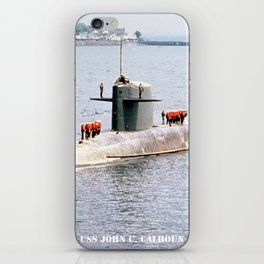 USS JOHN C. CALHOUN (SSBN-630) iPhone Skin