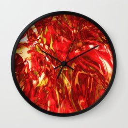Fluid Painting (Red Version) Wall Clock