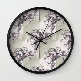 Cherubs & Clockwork Hearts Wall Clock
