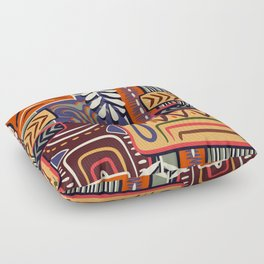 African Geometric Pattern Floor Pillow