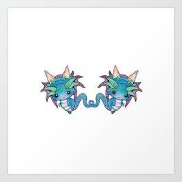 Sweet Baby Dragons Art Print