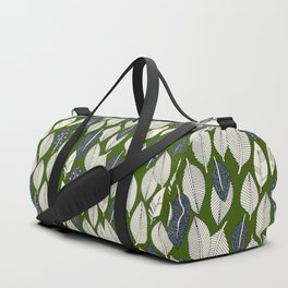 leaves and feathers green Duffle Bag