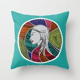Geometric Girl Throw Pillow