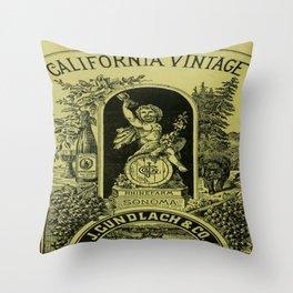 Vintage poster - California Vintage Throw Pillow