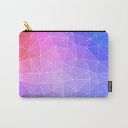 Abstract Colorful Flashy Geometric Triangulate Design Carry-All Pouch