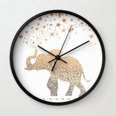 GOLD ELEPHANT Wall Clock