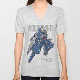 Woundwort Test Team color - MS Gundam Unisex V-Neck