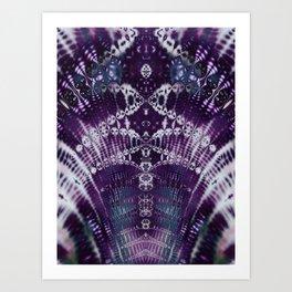 Purple Fractal Tie Dye Tie Dye Art Print