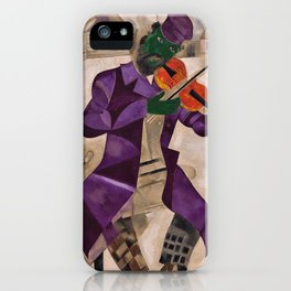The Green Violinist by Marc Chagall iPhone Case