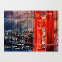 san francisco Canvas Prints featuring San Francisco by takmaj