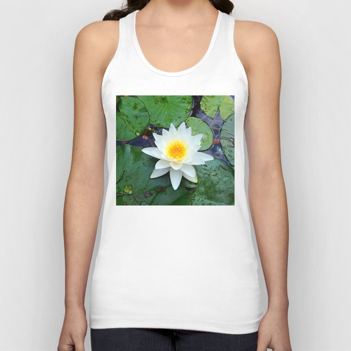Water Lily Unisex Tank Top