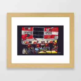 Red Hat Parade Framed Art Print