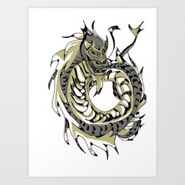 Gold Chinese Dragon Art Print