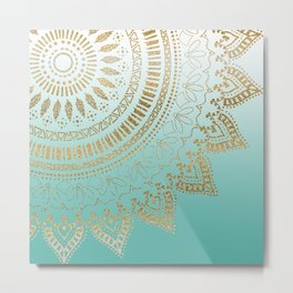 Pretty hand drawn tribal mandala elegant design Metal Print