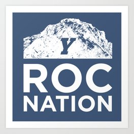 BYU Roc Nation Art Print