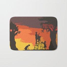 Apple Picking at Sunset Bath Mat
