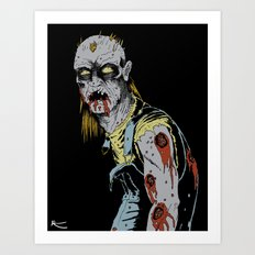 Just some zombie Art Print