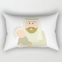 Saint Joseph and Baby Jesus Rectangular Pillow