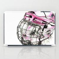hockey iPad Cases featuring Hockey mandrill  by Detullio Pasquale