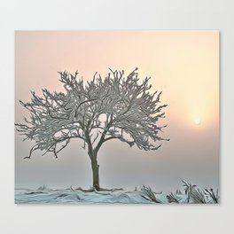Cold Frosty Morning Airbrush Artwork Canvas Print